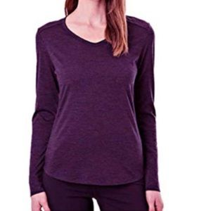 Seg'ments | Purple Merino Wool Long Sleeved Tee